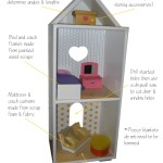 Handmade Barbie Doll Townhouse from Bookcase