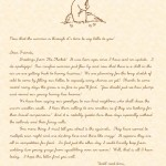 Mother Rabbit's Fall Letter