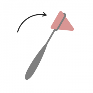 simple reflex hammer illustration