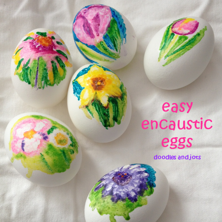 melty crayon eggs