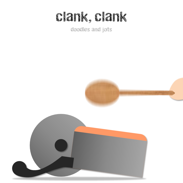 banging on pots and pans illustration