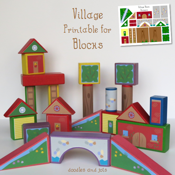 Village Blocks Printable
